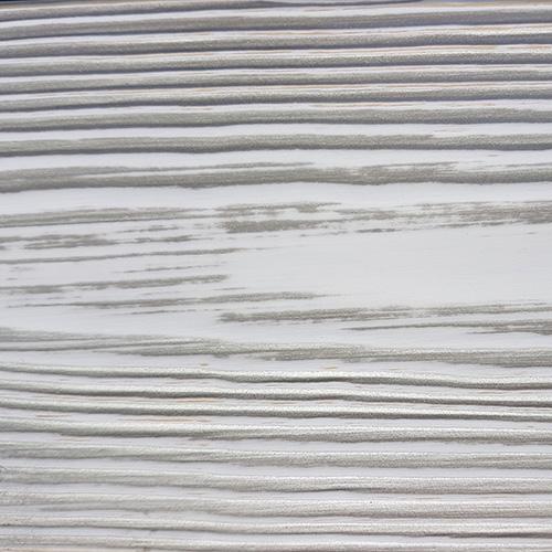 Белый с серебряной патиной