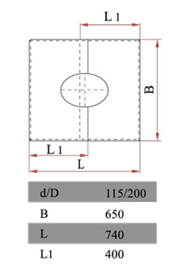 Размеры фланца Дымок