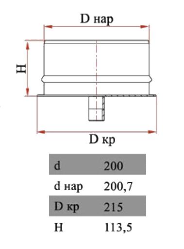 Размеры двухконтурнуго конденсатосборника Дымок
